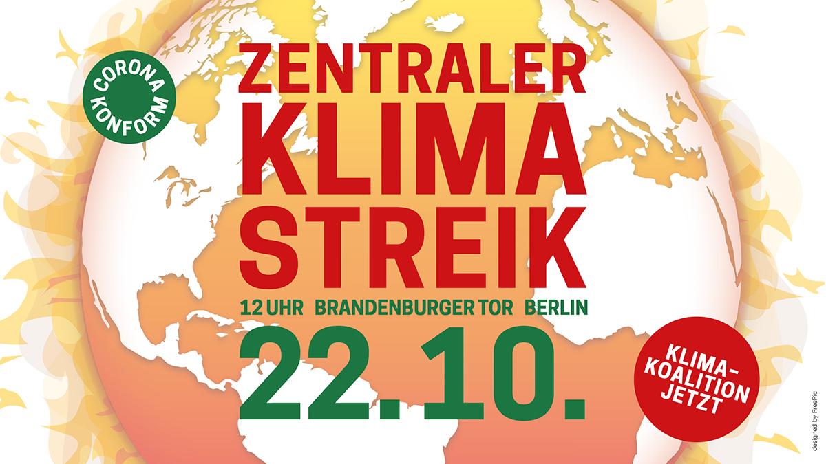 Am 22. Oktober mit Fridays for Future zum zentralen Klimastreik nach Berlin
